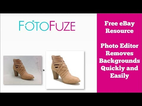 Free eBay Resource - Photo Editing Tool Removes Backgrounds