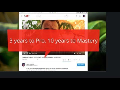 Web Developer Skills: 3 years to Pro, 10 years to Mastery