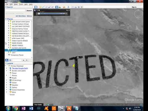 Nasa/google earth WRITED IN SATELITE IMAGE