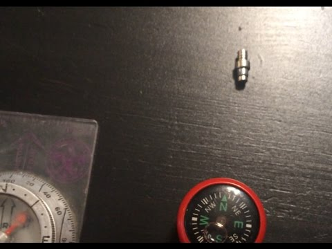 DIY Rare Earth Magnet COMPASS!! A NEW Discovery!!!!