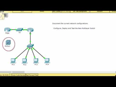 [CCNA v6] Packet Tracer 5.3.3.5 Configure Layer 3 Switch