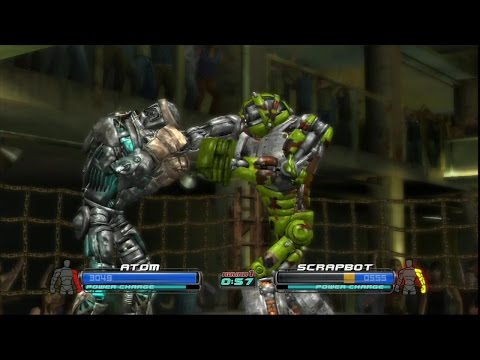 Real steel-Atom vs new robot  Scrapbot