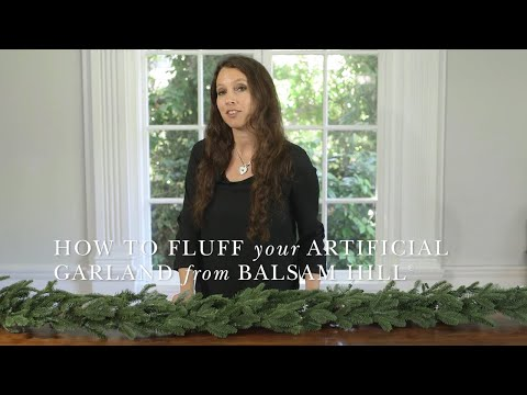 How to Shape an Artificial Garland from Balsam Hill™