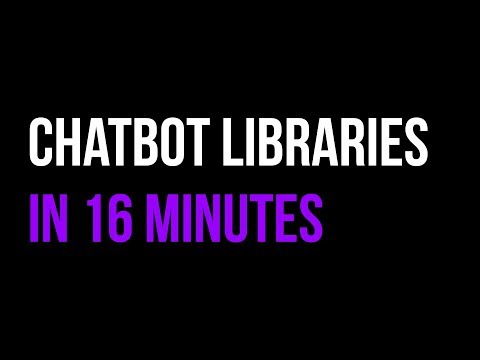 Facebook Chatbot Libraries in 16 Minutes!   BOTS   Quick Code