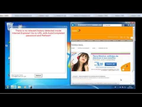 Internet Explorer Auto Complete Password Reveals