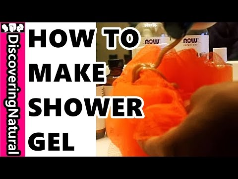 How to make Black Soap Shower GEL