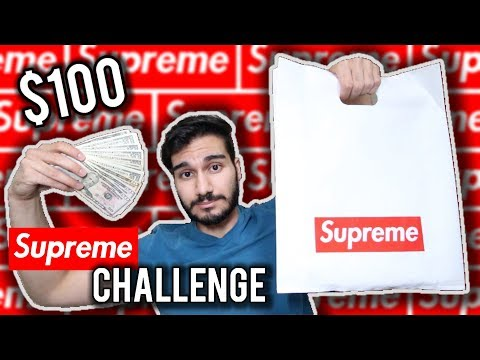 $100 Supreme Challenge!!! | What Can You Buy Off Supreme For A Hundred Dollars???
