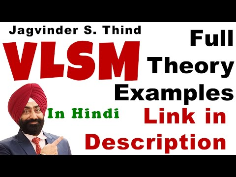 CIsco CCNA VLSM in Hindi - IP Addressing and Subnetting - Part 20