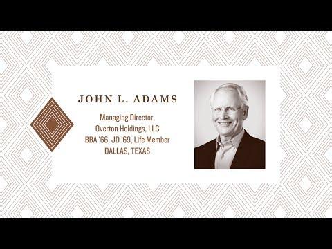 2017 Distinguished Alumnus: John Adams
