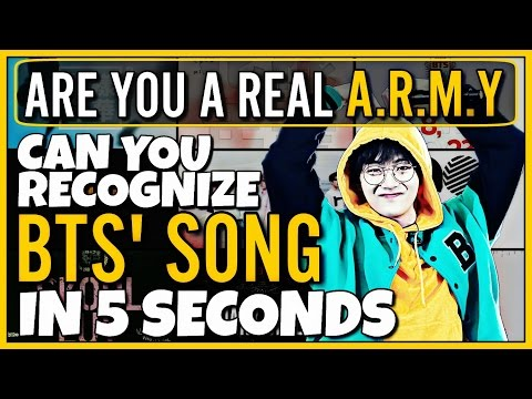 CAN YOU RECOGNIZE 15 BTS SONGS IN 5 SECONDS   KPOP GAME