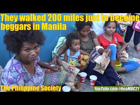 Travel to the Philippines and Help some Beggars and Homeless. The Philippine Society. Manila