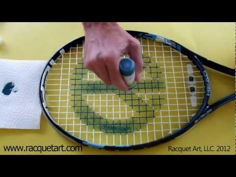 How To Stencil Your Racquet by Racquet Art (www.racquetart.com)