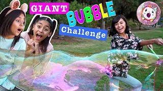 Pikmi Pops Bubble Drops Surprise Challenge - Giant Bubbles - Sis Vs Sis // GEM Sisters