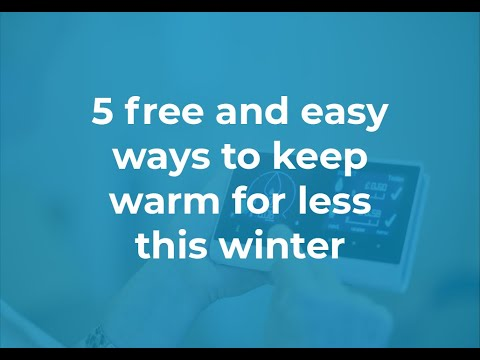 5 free and easy ways to keep warm for less this winter