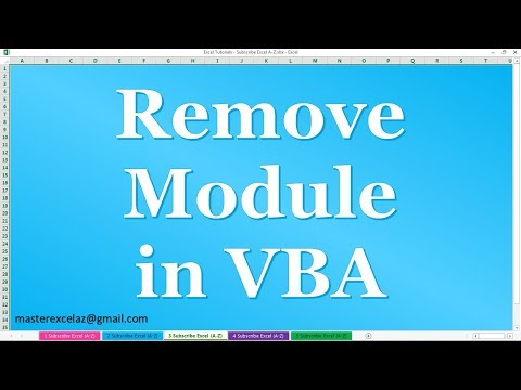 How to Remove Module in VBA Project window in MS Excel 2016
