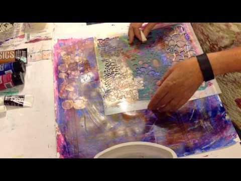 Painted paper - wallpaper sample reuse