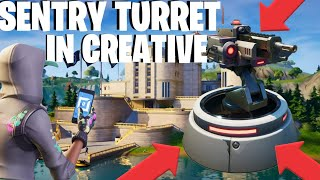 How To Get AGENCY TURRETS In Fortnite Creative!