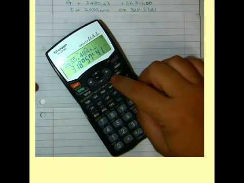 How to Calculate a Polar with a Sharp calculator