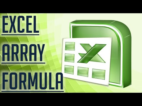 [Free Excel Tutorial] EXCEL ARRAY FORMULA - Full HD