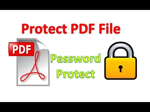 How to Protect PDF file By Password