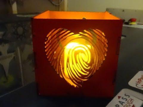 Valentine Love Box: Custom Tea Light Box
