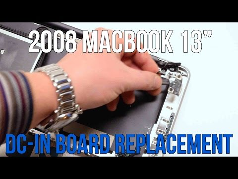 2008 Unibody DC in Power Connector Replacement Save Apple Dollars #19