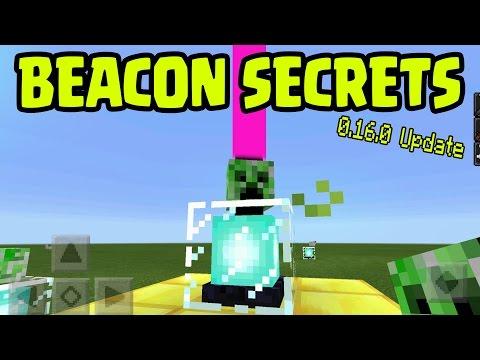 MINECRAFT PE 0.16.0 BEACON SECRETS! // 0.16.0 UPDATE BEACON FEATURES! Minecraft PE (Pocket Edition)