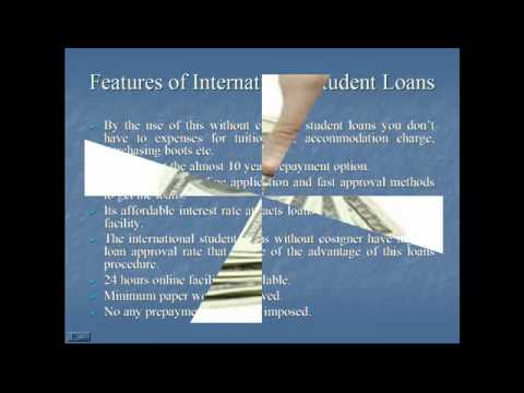 How to apply for International student loans without cosigner?