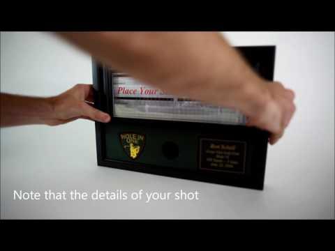 Custom Hole in One Golf Ball and Scorecard Display