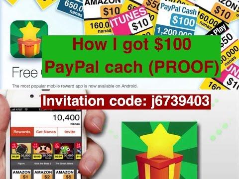 App Nana / AppJoy (2015) -how I got $100 PayPal cash (proof) invitation code: j6739403