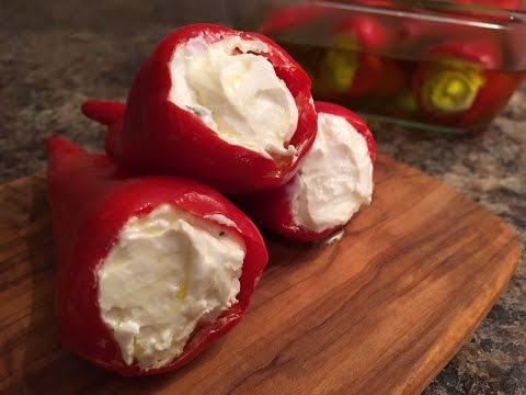 Red Jalapeño Peppers Stuffed with Cream Cheese & Feta Recipe - Episode #155