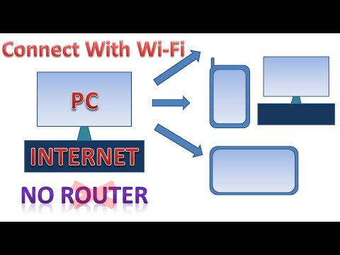 Connect pc internet to mobile via wifi without Router