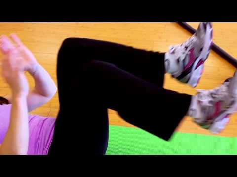 Lying Down Bicycle Exercise to Lose Belly Fat : Kickboxing & Exercises