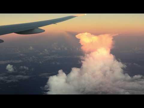 Flight from Los Angeles to Brisbane, Australia