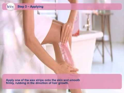 How to use Veet's hair removal wax