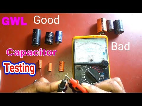 Good or Bad Capacitor Testing Use a Analog Multi Meter