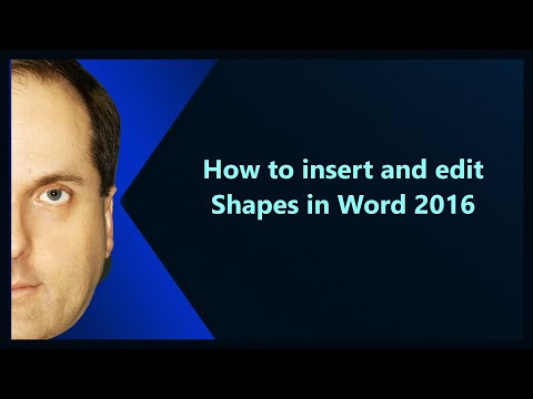 How to insert and edit Shapes in Word 2016