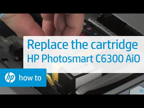 Replacing a Cartridge - HP Photosmart C6300 All-in-One Printer