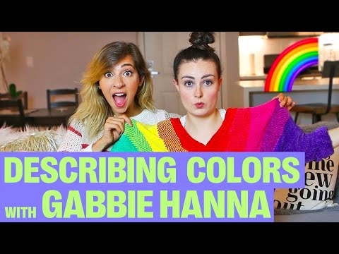 TRYING TO DESCRIBE COLOURS TO A BLIND PERSON W/ THE GABBIE SHOW!
