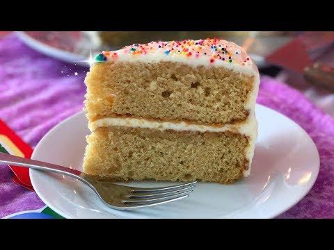 Best Ever Vanilla Birthday Cake - How to Make Vanilla Layer Cake with Vanilla Frosting