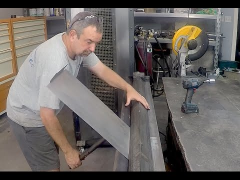 Home made Sheetmetal Brake - Metal Bender - enhancements