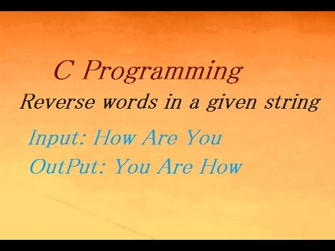 C Program To Reverse words in a given string