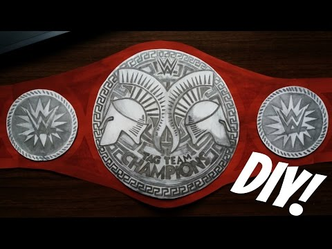 How to make WWE Raw Tag Team championship title belt