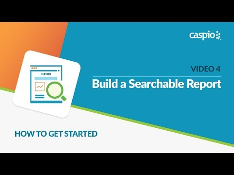 Learn How to Get Started with Caspio (Part 4 of 5) - Build a Searchable Report