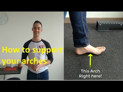 Flat feet - exercise to increase arch height and reduce foot pain
