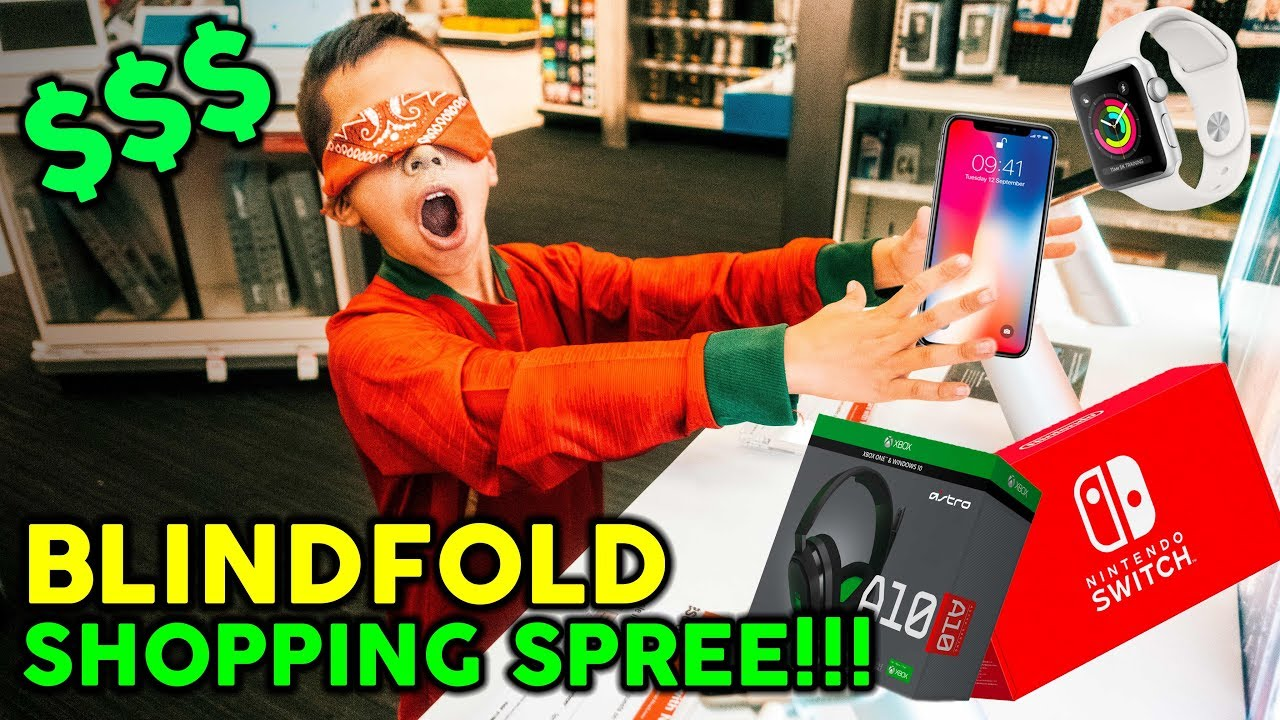 Buying EVERYTHING I Touch Blindfolded! **NO BUDGET CHALLENGE** | The Royalty Family