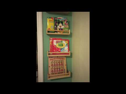 IKEA Spice Rack as Book Shelves ::: BEKVÄM Spice rack, birch $3.99