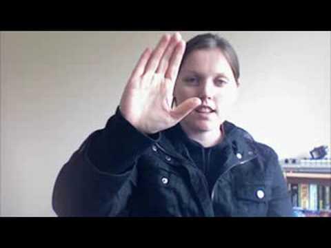 Irish Sign Language Alphabet