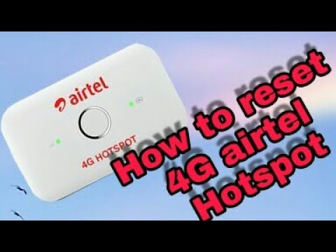 How to reset password and username airtel 4G HOTSPOT hindi