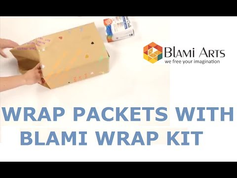 How to use BLAMI WRAP KIT for packet- wrapping paper (30''x100ft) and twine (200ft)
